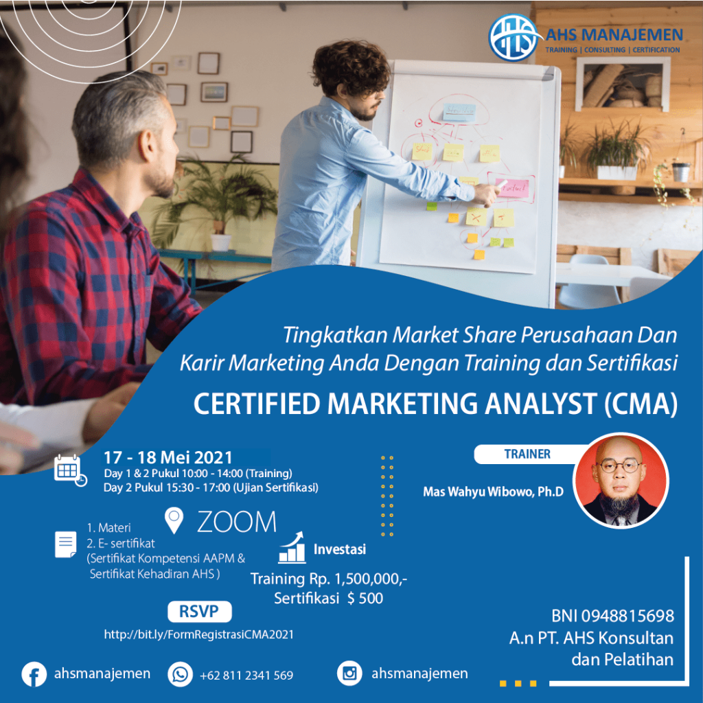 Certified Marketing Analyst-CMA (17-18 Mei 2021)