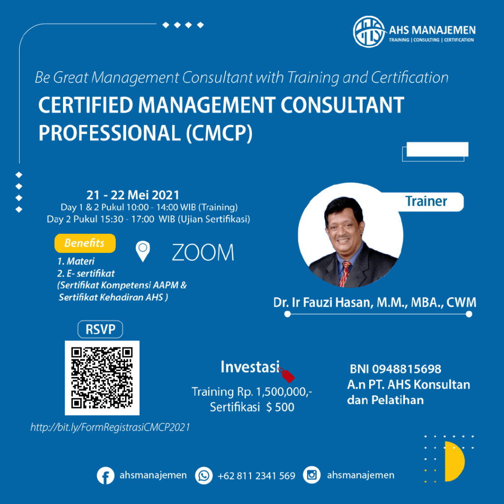 Certified Management Consultant Professional-CMCP(21-22 Mei 2021)