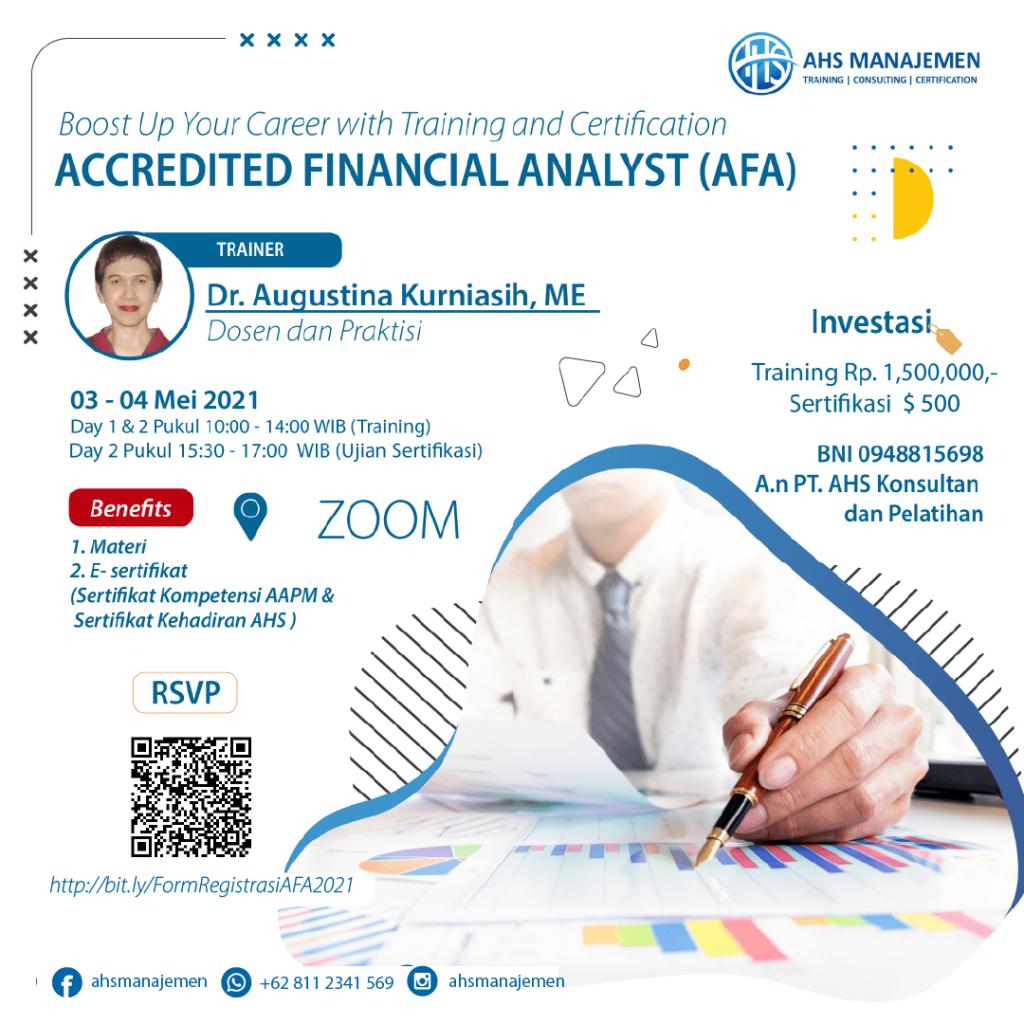 ACCREDITED FINANCIAL ANALYST - AFA